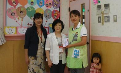被災幼稚園に支援の手 (2011.08.21)